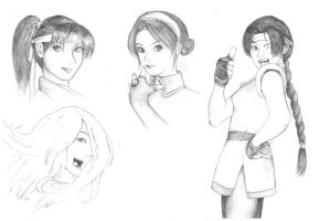 King of Fighters characters by Panzernecker