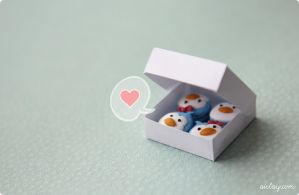 penguins speak in the love language. by Aiclay