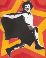 Nacho Libre - Stencil by theraineydaze