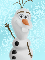 Olaf digital painting, frozen by artbox99