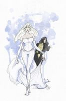 Emma Frost and Kitty Pryde by Ripplen