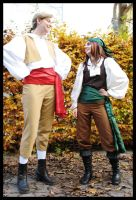 Guybrush and Elaine by Federkiel