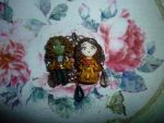 Belle and Rumpelstiltskin in polymer clay by Teodora85