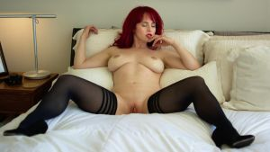 Andrea on the bed by highstrangeness