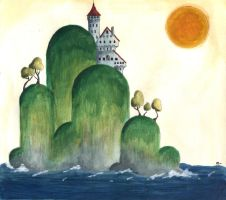 The Castle on the Cliff by elegantart