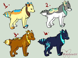 Random wolf/canine adoptables (CLOSED) by RippedMoon