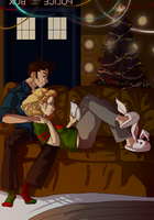 christmas eve in the tardis [colored] by niitsvee