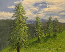 Alpine Trees by Oksana007