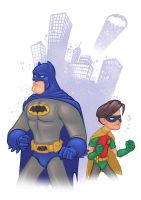 Batman and Robin by Rey-Paez