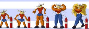 Cow Girl Inflation Transformation by TFSubmissions