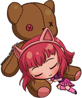 LoL Chibi - Sleeping Annie by NamiDragon