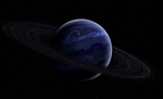 gas planet  wit ring by theholypaladin