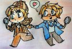 [AT] Sherlock!USUK Chibi by GraphiteNotes