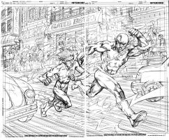 Kidflash 1 pgs.4and 5 pencils by olivernome