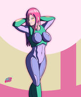 Girl in Space Armor by Twisted4000