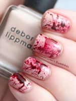 True Blood Splatter Nails by SamariumsSwatches