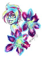 Frankie Duscha Blue Sonia Orchid by nickyflamingo