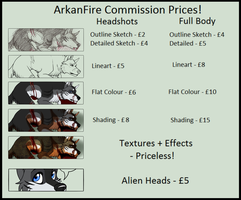 Commission Information by ArkanFire