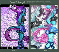 Draw This Again - Anthro Neleh by NelehTheDragoness