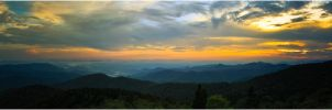 Blue Ridge Parkway Panorama by KOMODO-Art