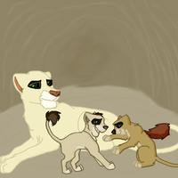 ~ Mate and Cubs of Anza ~ by Feral-Art