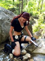 Lara Croft and scratches by TanyaCroft