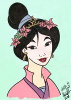 Wonderful Mulan Colored by stargate4ever23