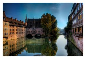 Nuremberg River HDR by ceasetobeme