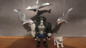 DC SUPER-PETS: LOBO WITH SPACE DOLPHINES AND DAWG by monitor-earthprime