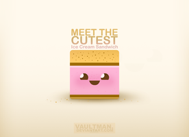 The Cutest Ice Cream Sandvich by VaultMan