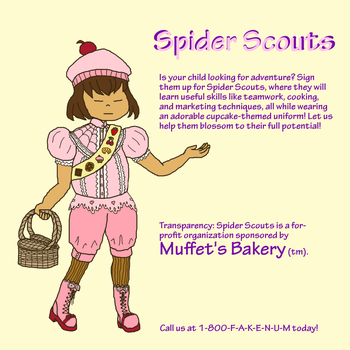 Spider Scouts Ad by Arachnakid