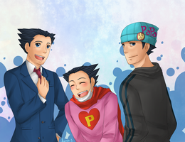 AA: Phoenix Wright Trio by ozamham