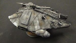 Hacked Millenium Falcon by goofeegrins