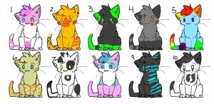 Cat  Adoptables [open] by LeafJayfeather