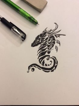 The Tribal Dragon by Wolfgirl1393