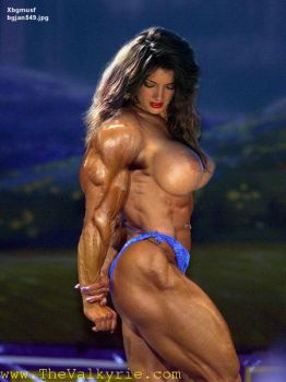 big boobed muscle beauty by xbgmusf