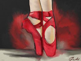 Red Shoes by carlyscanvas