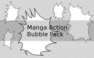 Manga action bubble pack by MoshCat13