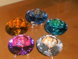 5 out of 7 chaos emeralds by OrotheEchidna