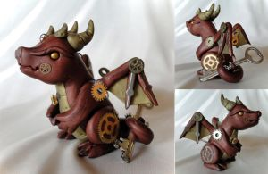 Copperbottom - the Steampunk Dragon by Shemychan