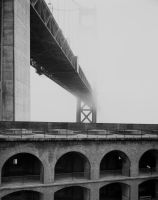 Fort Point Bridge Fog sm by Wilton-Wong