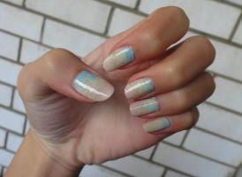 Gradient Nails by wushini