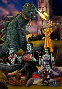 Munsters Family Picnic by Loneanimator