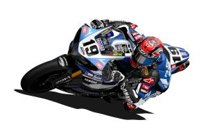 Ben Spies WSB Yamaha by RacerTees