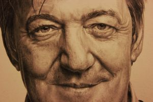 Stephen Fry Drawing by Lewis3222