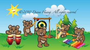 Musical Bears Characters by Diana-Huang
