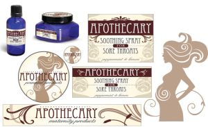 Apothecary Branding by jsgraphix