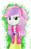 Sweetie Belle (EG: Rainbow Rocks) by LISAN1997