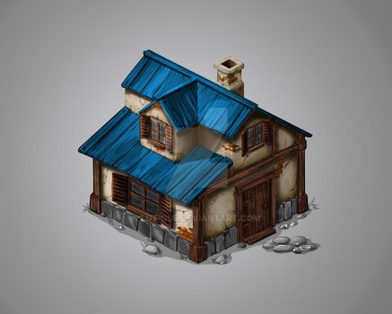 Isometric Game Art. In progress... by Lutique