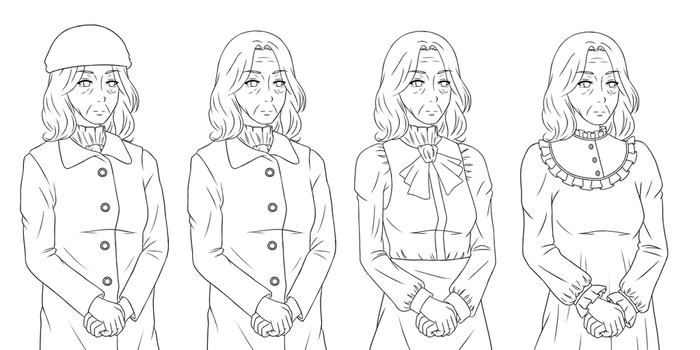 MIRIAM: Character Portraits: Mrs. Miller (WIP) by nelly2793